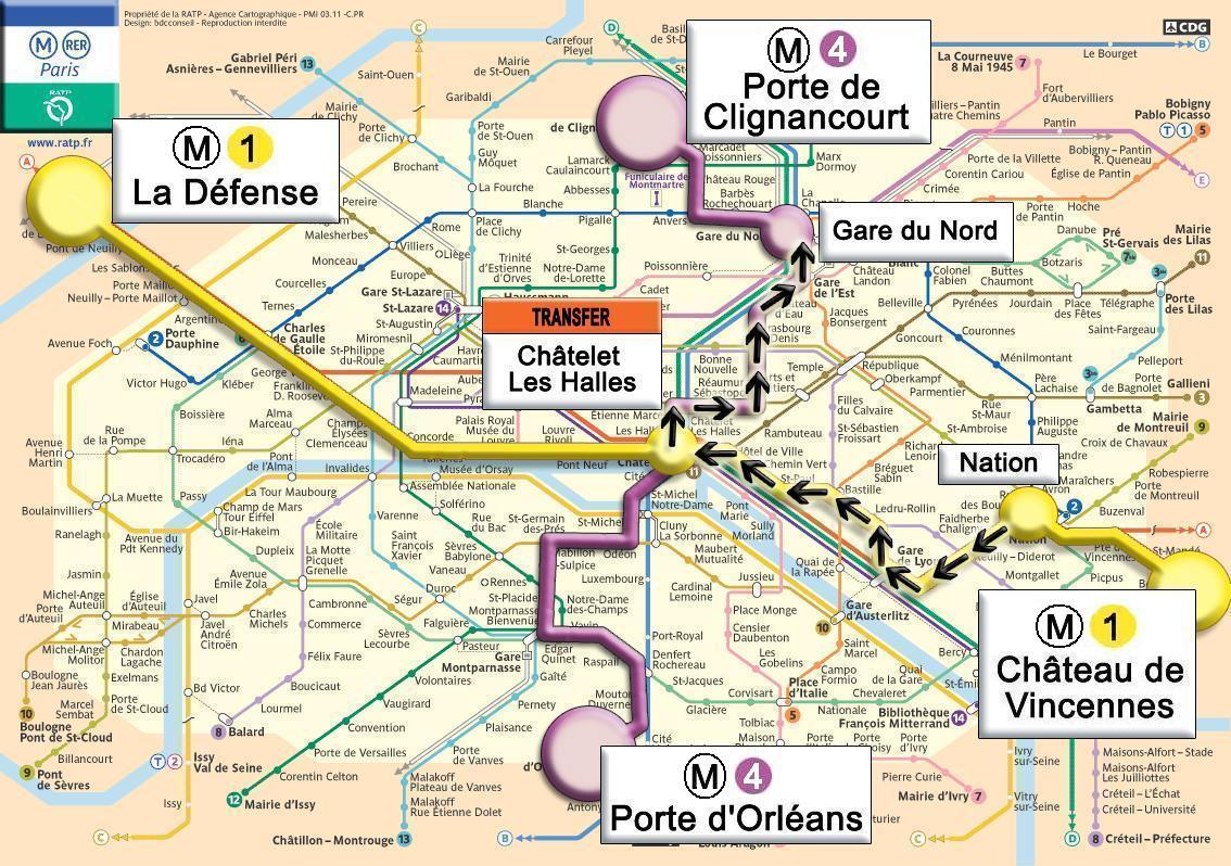 Paris voyage - Metro porte de clignancourt ...
